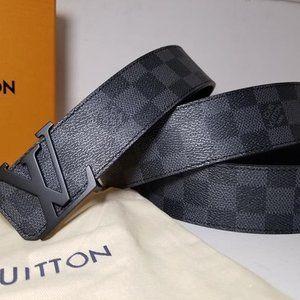 Louis Vuitton Black DAMIER Belt M9808V *110
